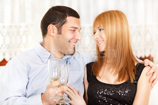 любви счастливым летию шампанского Сток-фото © MilanMarkovic78