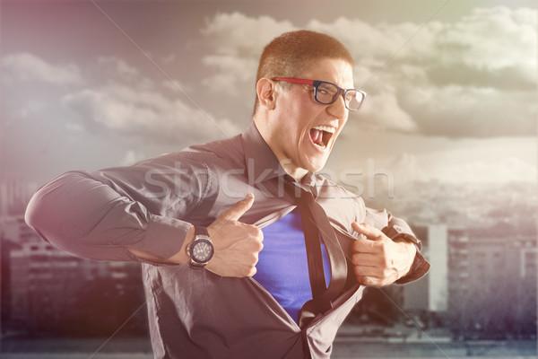Businessman - Superhero Stock photo © MilanMarkovic78