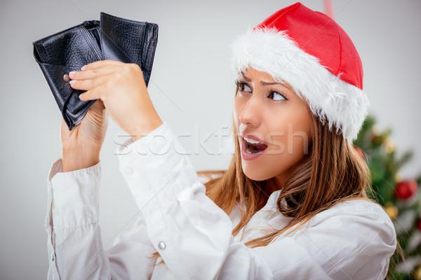 üres pénztárca fiatal gyönyörű üzletasszony visel Stock fotó © MilanMarkovic78