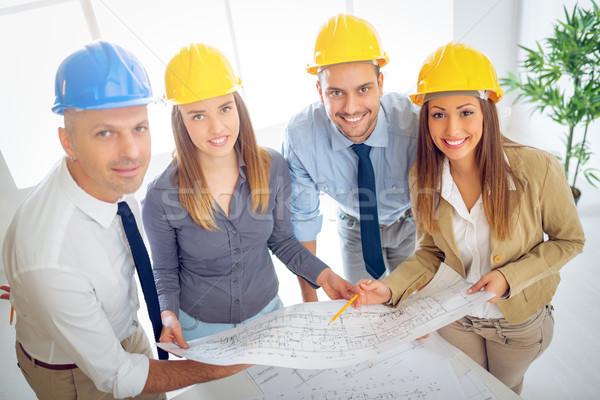 Stock photo: Architects Team