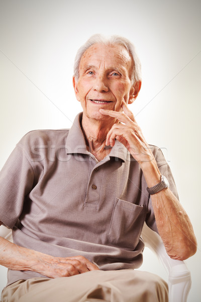 Portrait of elderly senior men Stock photo © MilanMarkovic78
