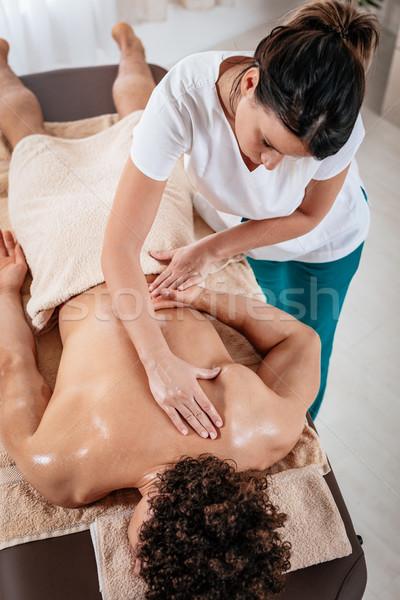 Relaxing Back Massage Stock photo © MilanMarkovic78