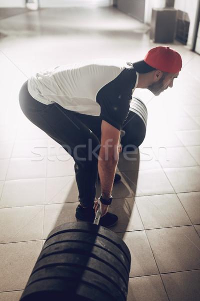 Ready To Hard Workout Stock photo © MilanMarkovic78