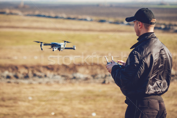 Man Navigating A Drone Stock photo © MilanMarkovic78