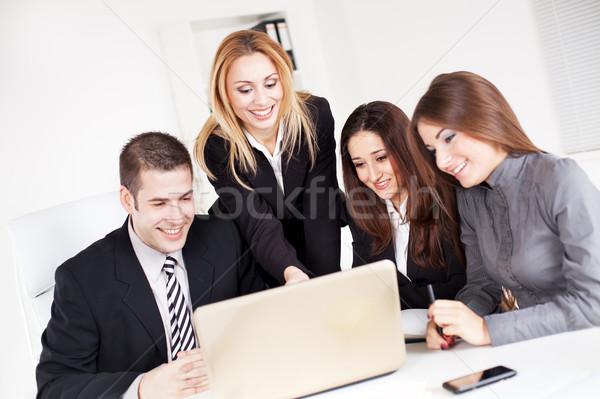 Zespół firmy szczęśliwy business woman koledzy projektu Zdjęcia stock © MilanMarkovic78