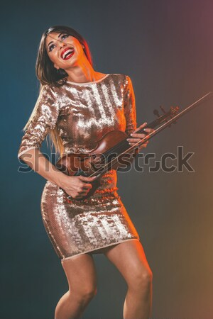 Woman Playing The Violin Stock photo © MilanMarkovic78