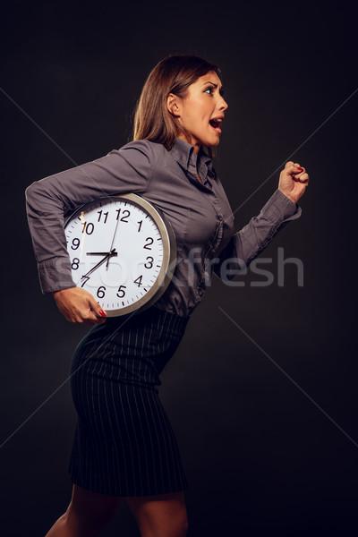Acil işkadını acele çalışma saat Stok fotoğraf © MilanMarkovic78