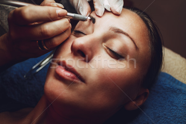 Permanent Makeup For Eyebrows Stock photo © MilanMarkovic78