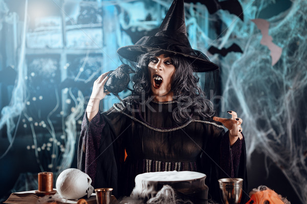 Witch Sends Evil Makes Stock photo © MilanMarkovic78