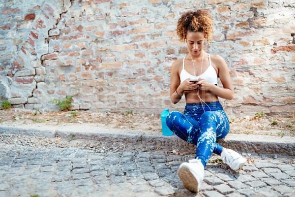 Finding The Perfect Workout Playlist Stock photo © MilanMarkovic78