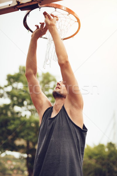 Installation basket net homme Photo stock © MilanMarkovic78
