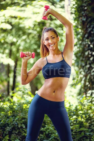 So Many Benefits Of Outdoors Exercise  Stock photo © MilanMarkovic78