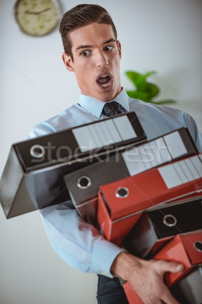Stock photo: Overworked Businessman