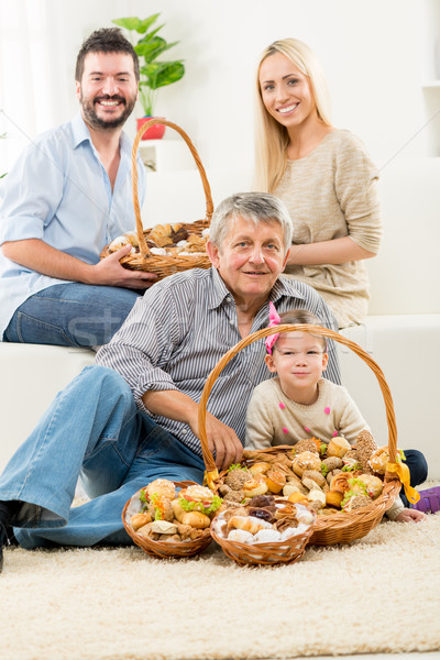 Happy Family With Baked Delicacy Stock photo © MilanMarkovic78