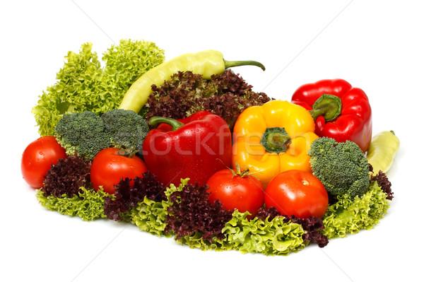 Friss zöldségek dekoráció saláta zöldségek bors friss Stock fotó © MilanMarkovic78