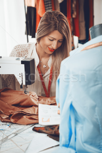 Stock photo: Young Fashion Designer