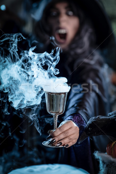 Witch Offers Magic Potion Stock photo © MilanMarkovic78