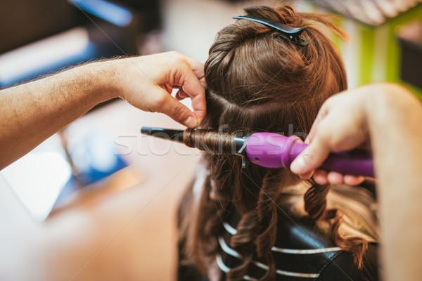 мужчины парикмахер долго Сток-фото © MilanMarkovic78