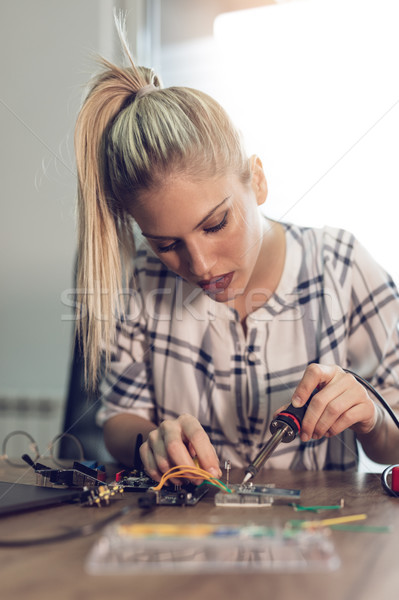 She Has A Passion For Science Stock photo © MilanMarkovic78
