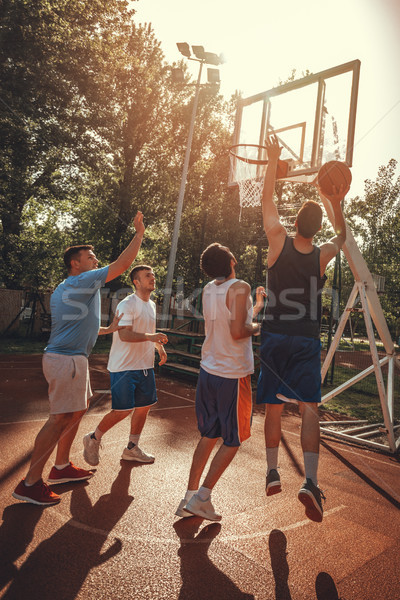 Teamwork As A Way To The Top  Stock photo © MilanMarkovic78