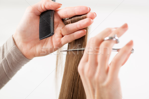 Haren kapper gesneden vrouw werken Stockfoto © MilanMarkovic78