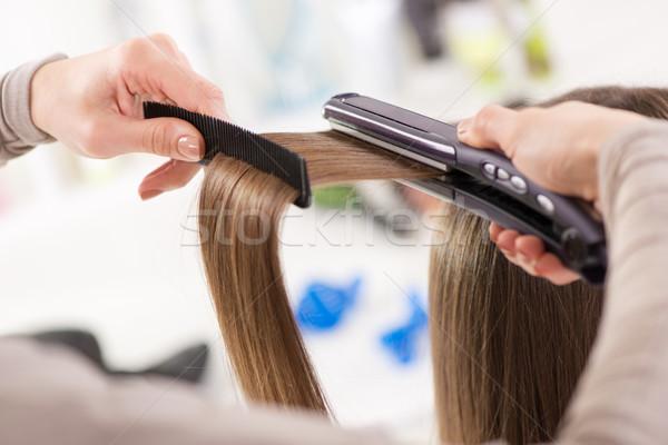 Hair Straighteners. Stock photo © MilanMarkovic78