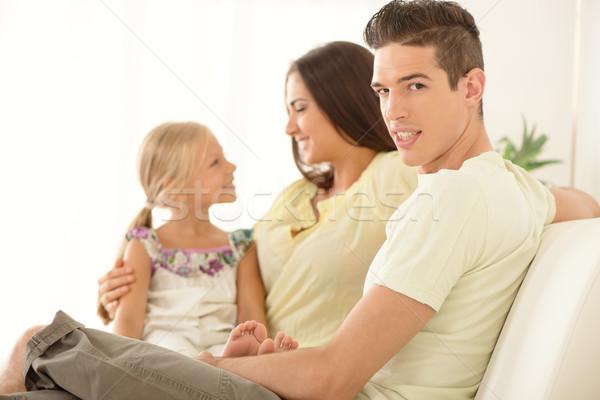Stock photo: Happy Family At Home