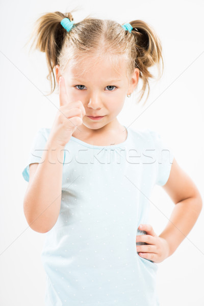 Angry little girl scolding Stock photo © MilanMarkovic78