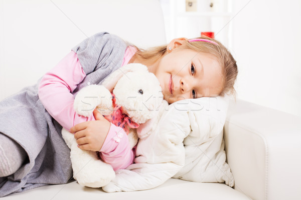 Little Girl With Soft Toy Stock photo © MilanMarkovic78