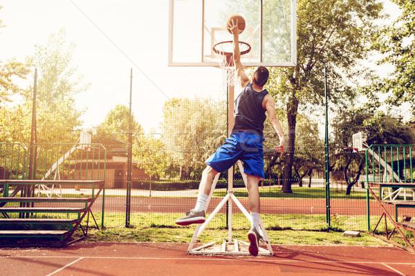 Mutat képességek fiatal utca kosárlabdázó bíróság Stock fotó © MilanMarkovic78