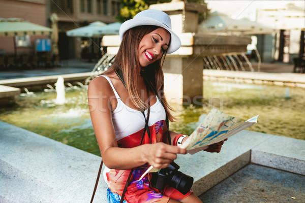 Scharfeinstellung Stadt Karte schönen Urlaub Stock foto © MilanMarkovic78