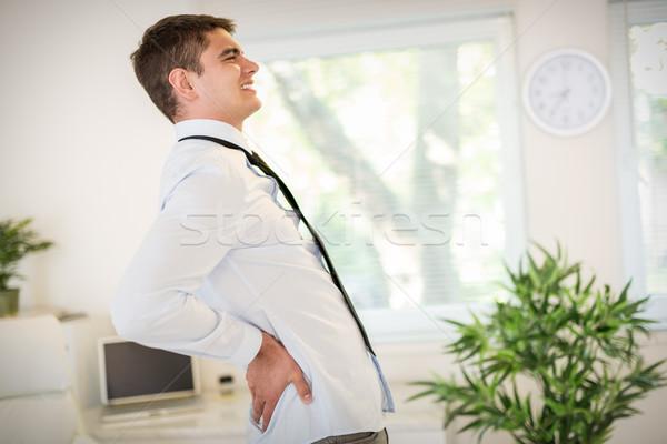 疲労 ビジネスマン 疲れ 小さな 腰痛 立って ストックフォト © MilanMarkovic78