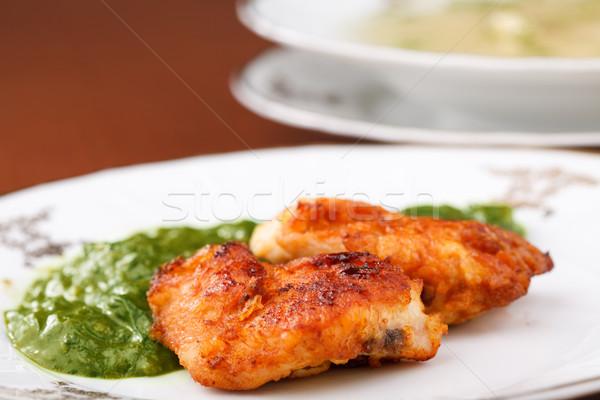 Fried Chicken Dinner Stock photo © MilanMarkovic78
