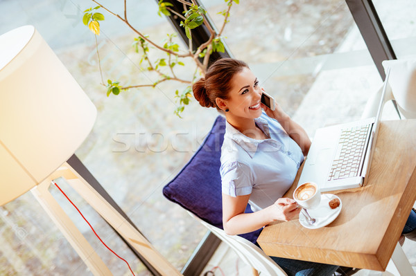Businesswoman On A Break Stock photo © MilanMarkovic78