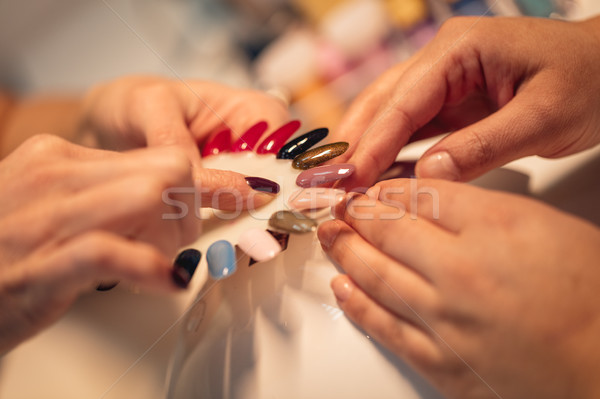 This Is Your Color Of Nails Stock photo © MilanMarkovic78