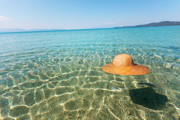 Sun hat in the sea Stock photo © MilanMarkovic78