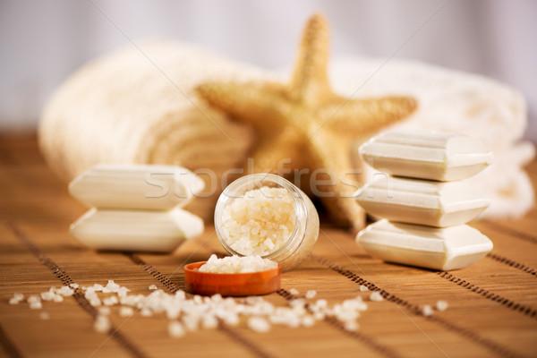 Aroma Therapy With Bath Salt Stock photo © MilanMarkovic78