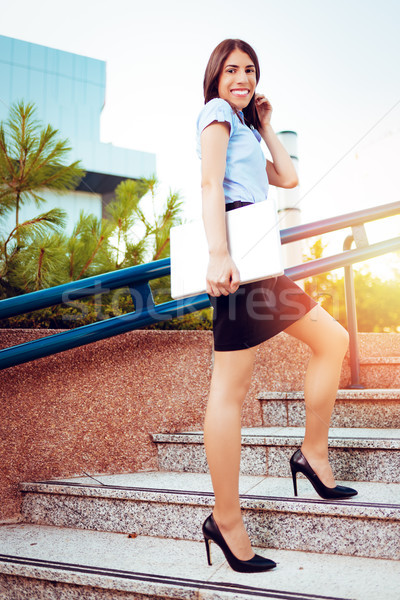 Businesswoman On The Way In Building Stock photo © MilanMarkovic78