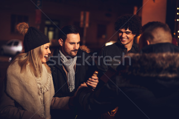 Stock photo: Friends At Night