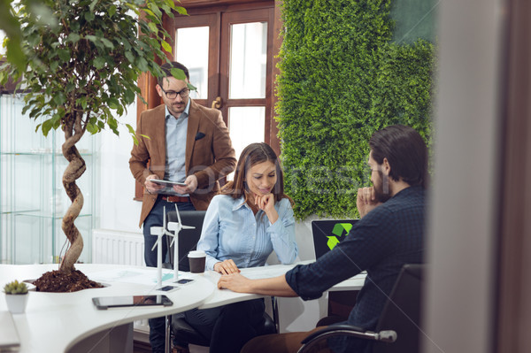 Verde idee ufficio squadra Smart qualificato Foto d'archivio © MilanMarkovic78