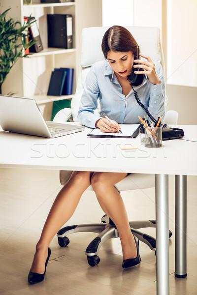 Sempre parlare business di successo lavoro Foto d'archivio © MilanMarkovic78