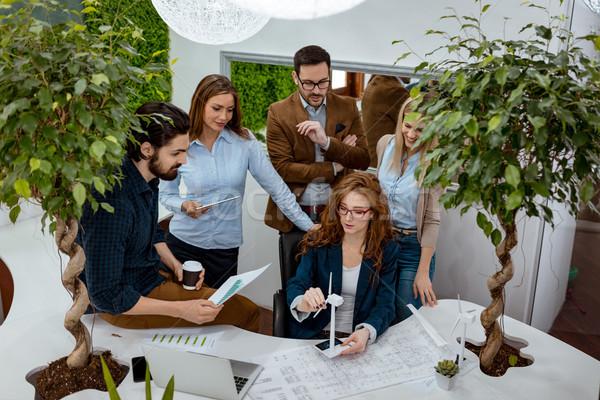 Jövő energia csapat okos alkalmas szakképzett Stock fotó © MilanMarkovic78