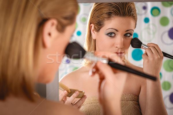 Morning Makeup Routine Stock photo © MilanMarkovic78