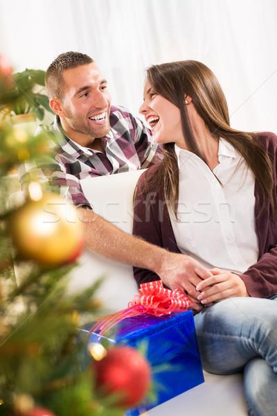 幸せ クリスマス カップル 男性 ストックフォト © MilanMarkovic78