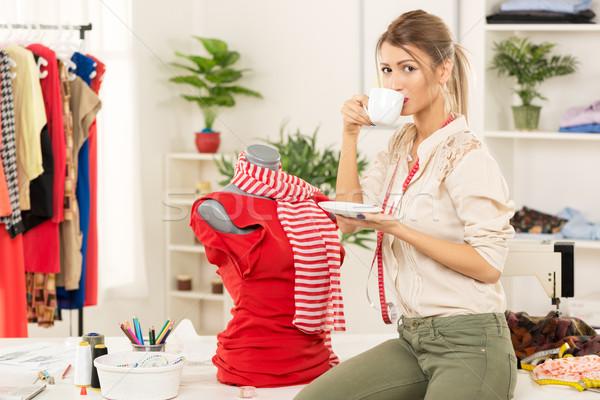 Fashion Designer With Creation On Mannequin Stock photo © MilanMarkovic78