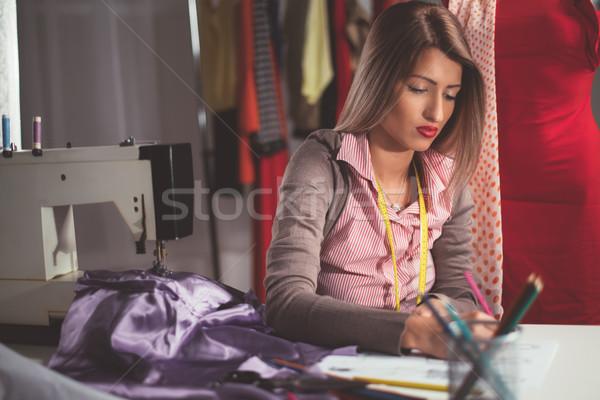 Young Fashion Designer At Work Stock photo © MilanMarkovic78