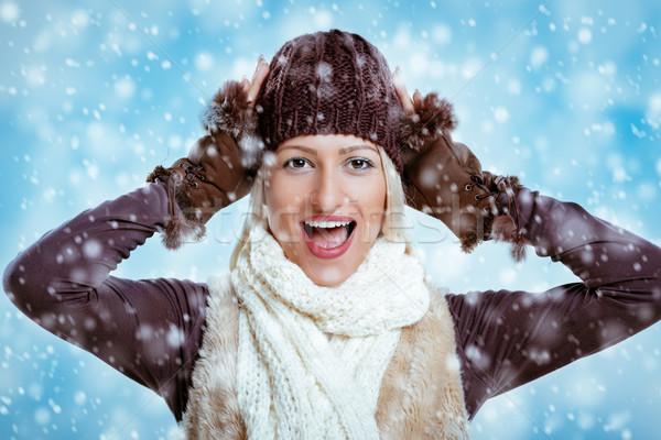 Joy Of The First Snowfall  Stock photo © MilanMarkovic78