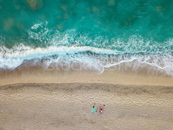 Solitario playa asombroso idílico dos Foto stock © MilanMarkovic78