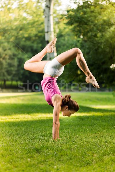 Handstand Exercise Stock photo © MilanMarkovic78