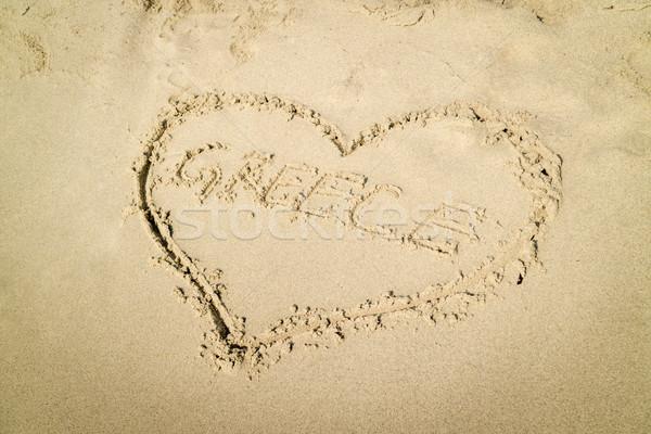 Amour Grèce coeur mot écrit Photo stock © MilanMarkovic78